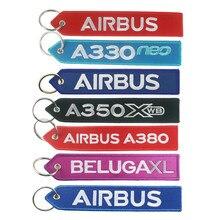 Логотип Airbus A330 neo A350 A380 BELUGAXL, брелок с вышивкой для путешествий, длинная багажная сумка, бирка, подарок для летного экипаж, пилот, авиация