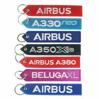 Airbus Logo A330 neo A350 A380 BELUGAXL Embroider Keychain Travel Long Luggage Bag Tag Gift for Flight Crew Pilot Aviation