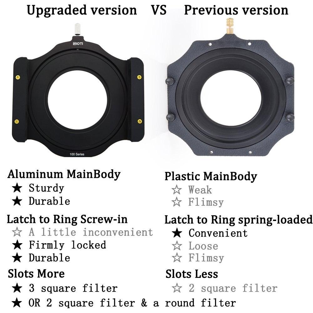 SIOTI Soporte de filtro de metal + anillo de adaptador de la serie - Cámara y foto - foto 4