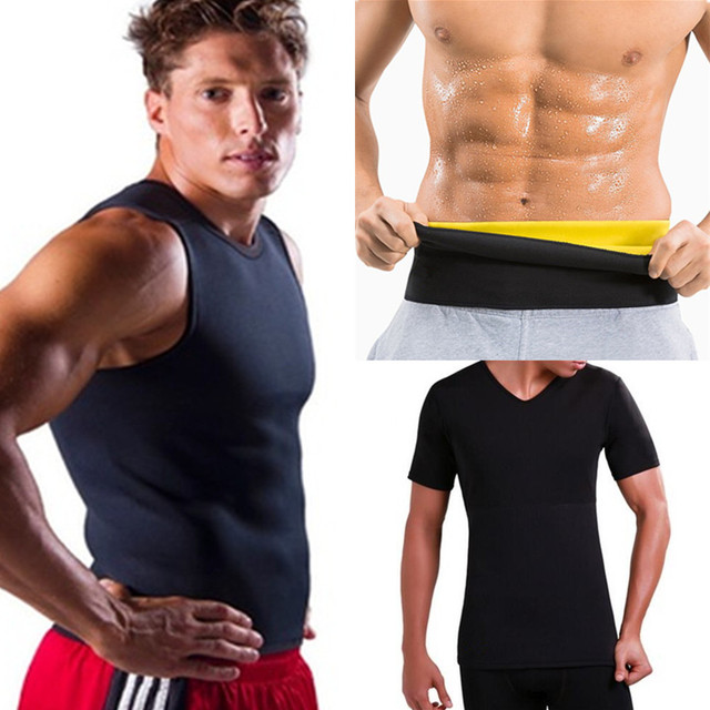 CHENYE Men Body Shapers Vest Slimming Fitness Waist Trainer belts Sweat Shapwear Slimming Shirts Sale Neoprene Weight Loss Tops