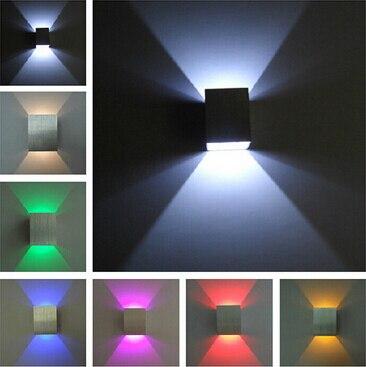 qx lmparas de pared led luces modernas de aluminio cubo de hotel bao dormitorio w with lamparas de pared modernas