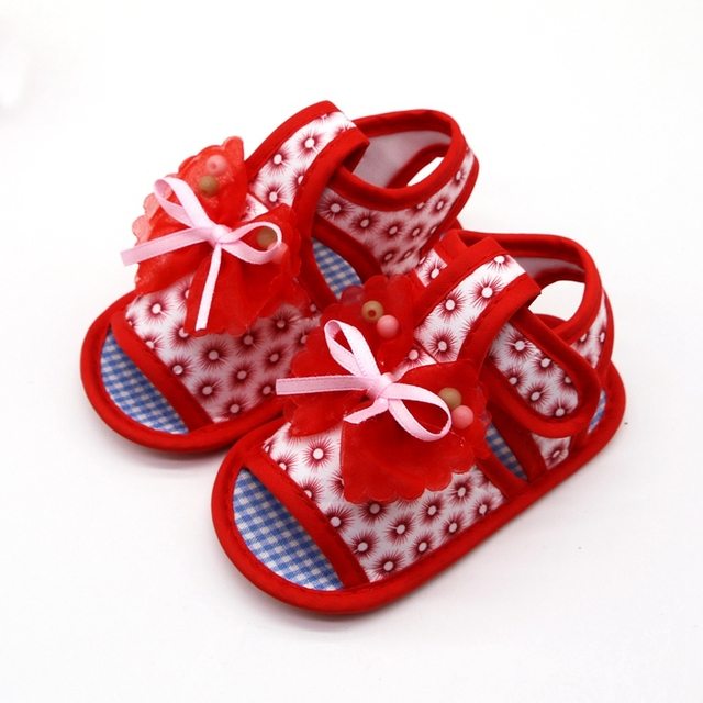 2019 Cotton Baby Girls Shoes Infant First Walkers Toddler Girls Kid Bowknot Soft Anti-Slip Crib Shoes 2