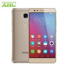 "Original huawei honor 5x/kiw-al10 5.5 ""emui 3.1 smartphone Snapdragon 616 Octa Core 1.5 GHz + 1.2 GHz RAM 3 GB ROM 16 GB FDD-LTE 4G"