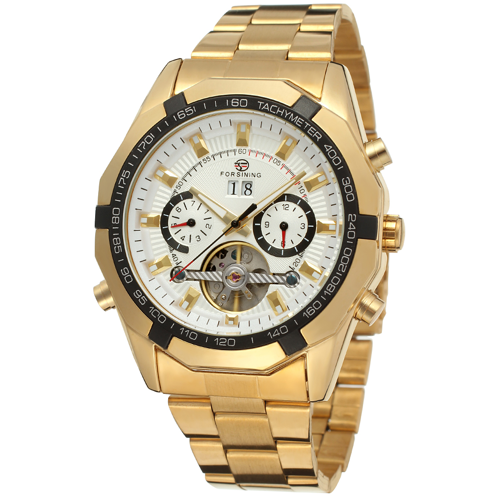 Relogio Masculino Forsining Men's Watches Top Brand Luxury Tourbillon Automatic Mechanical Watch Men gold Wristwatch Clock forsining automatic tourbillon men watch roman numerals with diamonds mechanical watches relogio automatico masculino mens clock