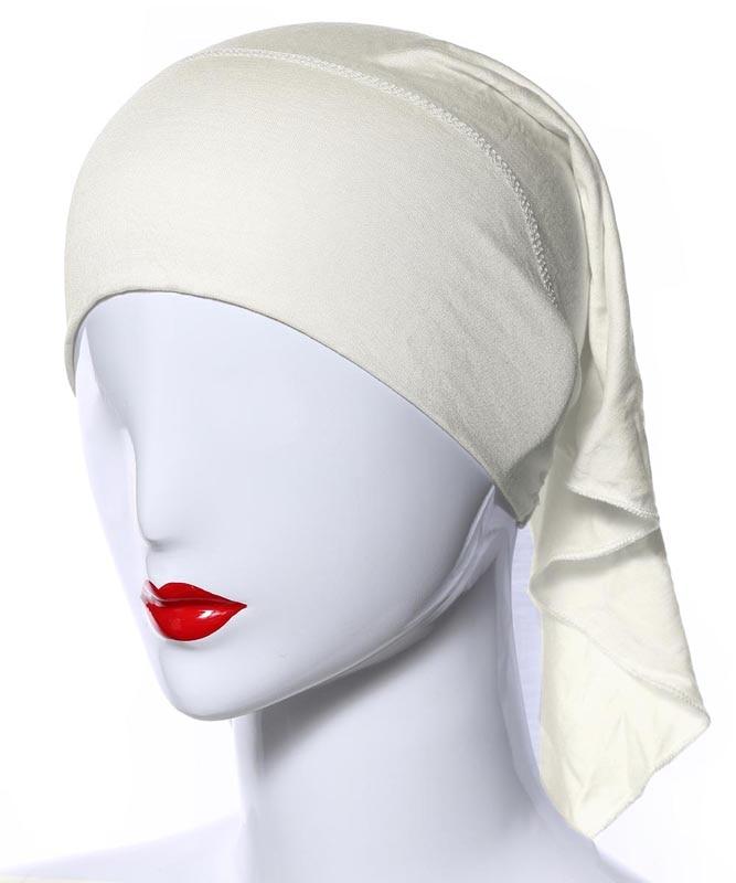 Image 3 - 20 Colors Muslim Women Soft Bone Ninja Inner Hijab Caps Islamic  Under scarf Hats Islamic Head Cover Chemo Cancer Headwear Wrap NIslamic  Clothing
