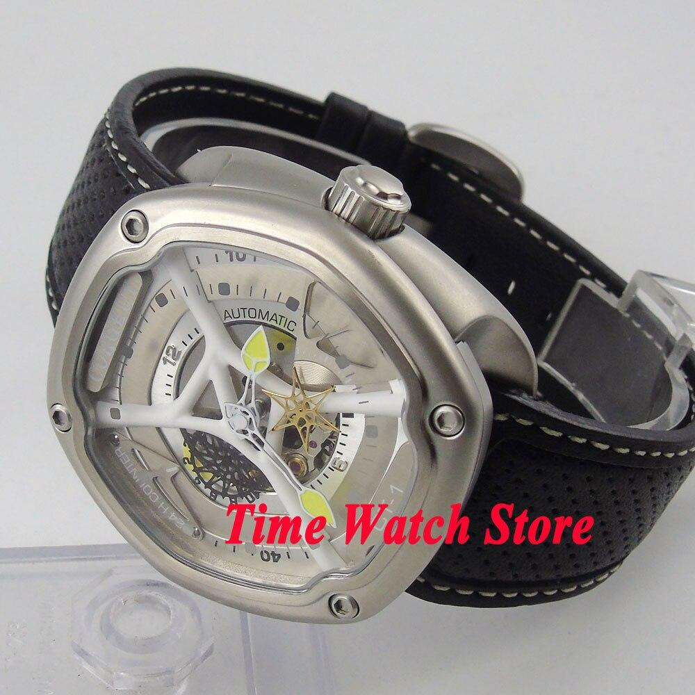 Luxury 46mm Corgeut Hexagon case luminous 24H counter 5ATM MIYOTA Automatic Men's watch men wristwatch cor84