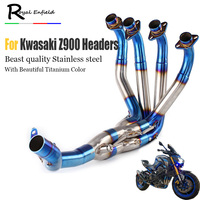 Z900 slip on motorcycle Exhaust Muffler headers Front Tube stainless steel down pipe elbow for Kawasaki z900 2017 2018