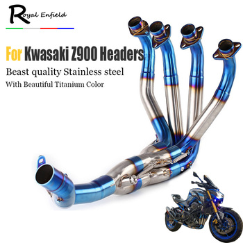 Z900 slip-on motorcycle Exhaust Muffler headers Front Tube stainless steel down pipe elbow for Kawasaki z900 2017 2018