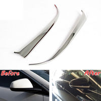 2x Car Side Mirror Rearview Mirrors Cover Trim Car styling Sticker Fit for Cadillac SRX 2010 2016 Stainless Auto Decoration