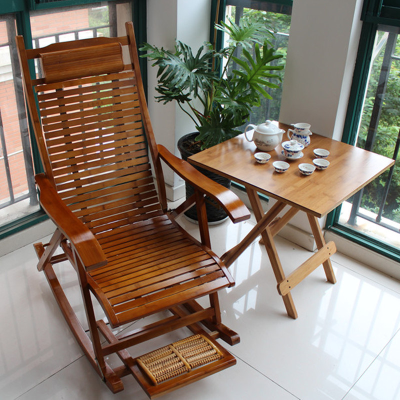 Happy bamboo rocking chair Jiangsu Zhejiang recliner chair folding chair nap special massage chair on Aliexpress.com | Alibaba Group : bamboo recliner chair - islam-shia.org