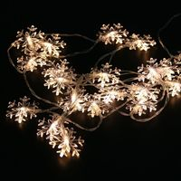 2M 20Leds Christmas Tree Snow Flakes Led String Fairy Light Xmas Party Home Wedding Garden Garland
