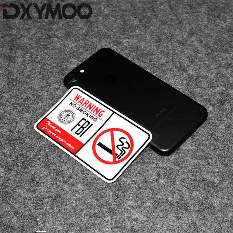 2PCS Motorcycle Phone Bike Body Stickers Warning FBI NO SMOKING Fasten Seat  Belt Car Bumpers 3M