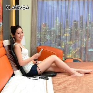 Image 5 - Klasvsa発熱ネックマッサージチェアバックシートトッパー車ホームオフィスマッサージ振動クッションバックネックリラクゼーション
