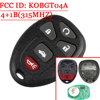 5(4+1) Buttons Keyless Remote Control Key Fob For GM/Chevrolet/Buick/PONTIAC/Chevy FCC:KOBGT04A