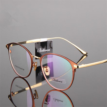 Титан очки круглые близорукие очки Для мужчин/Для женщин очки высокое качество двухцветный кошачий глаз очки 950