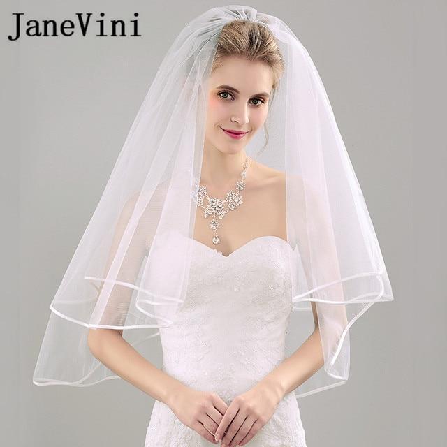 Short Ivory Wedding Veils