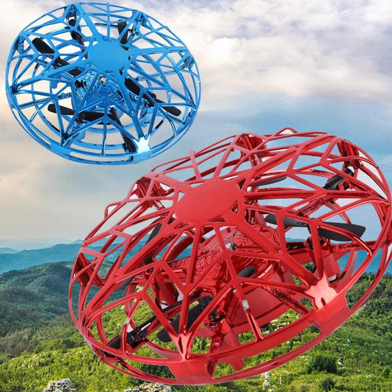 Fliegende LED Drohne UFO Untertasse Flugobjekt Handgesteuert Spielzeug Licht NEU