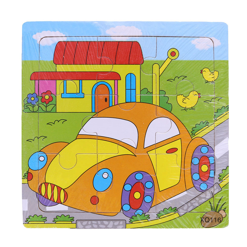 Реальные деревянные головоломки игрушки животных транспорта Multi-imensional 3d головоломки многослойная рано образования для детей RE3