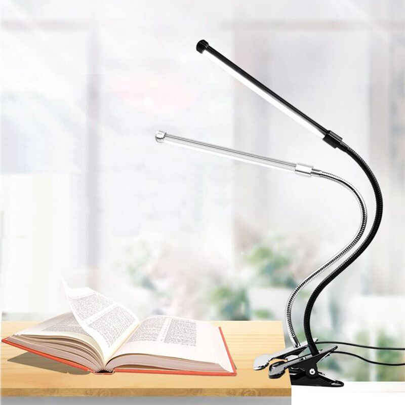 Book Lamp LED Book Lamp USB Reading Lamp Black/Sliver ...