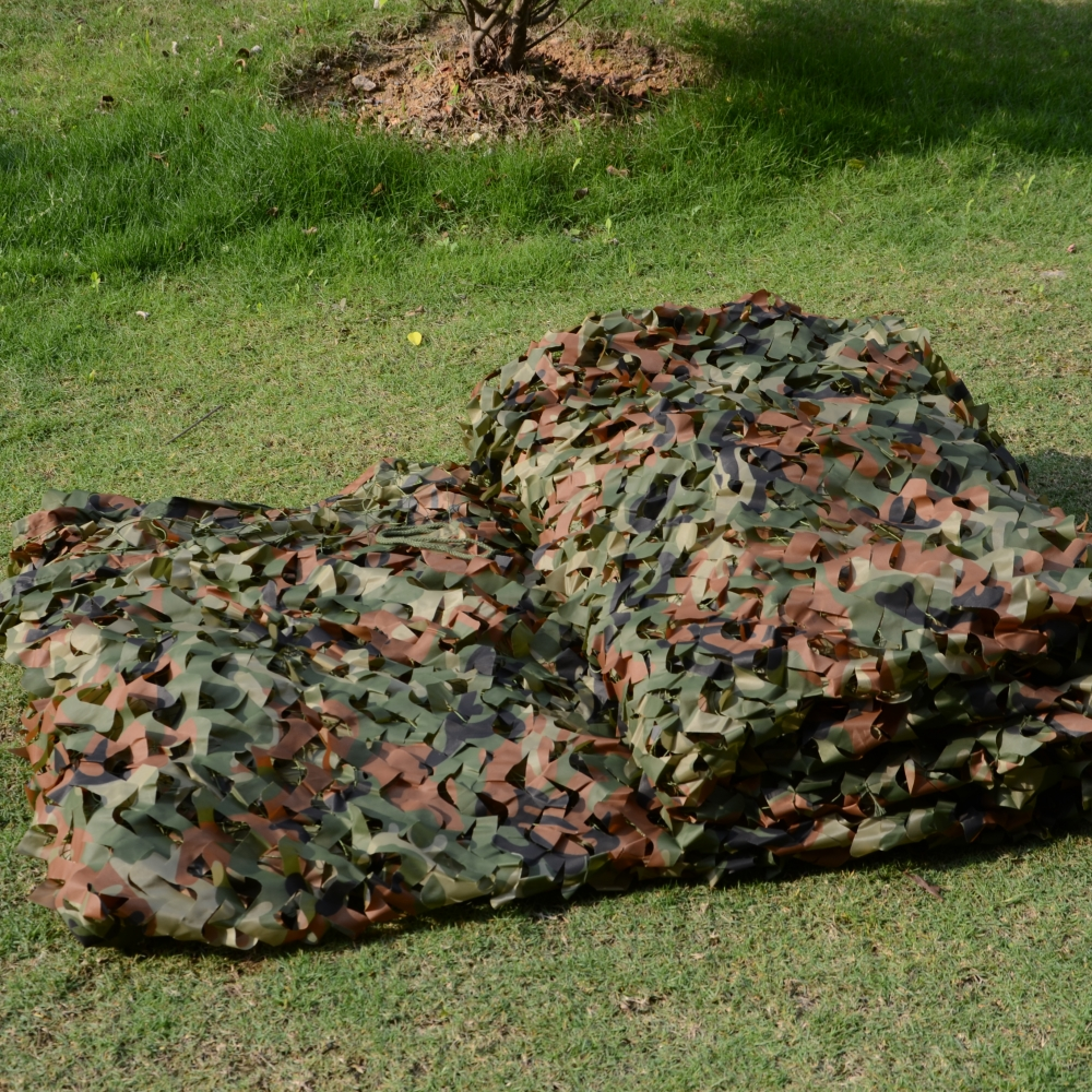 2M X 4M Military Camouflage Net Army Netting Sports Tent Woodlands Leaves Camo Cover for ...