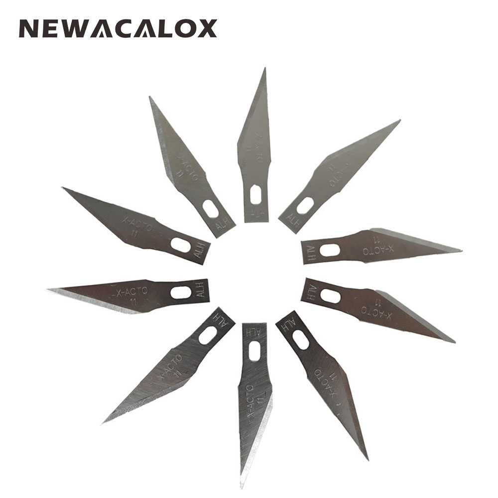 цены  NEWACALOX 20PCS Stainless Steel Blade for Mobile Phone Films Tools Cutter Crafts Hobby Knife DIY Scalpel Wood Carving PCB Repair