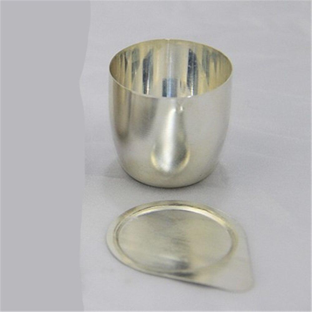 Creuset en argent 30 ml fabriqué par des fournitures de laboratoire de support de verre de mine d'argent