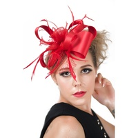 1PC Stylish Retro Women Beauty Mesh Feather Beads Hair Clip Fascinator Headpieces Hairpin Hair Accessories