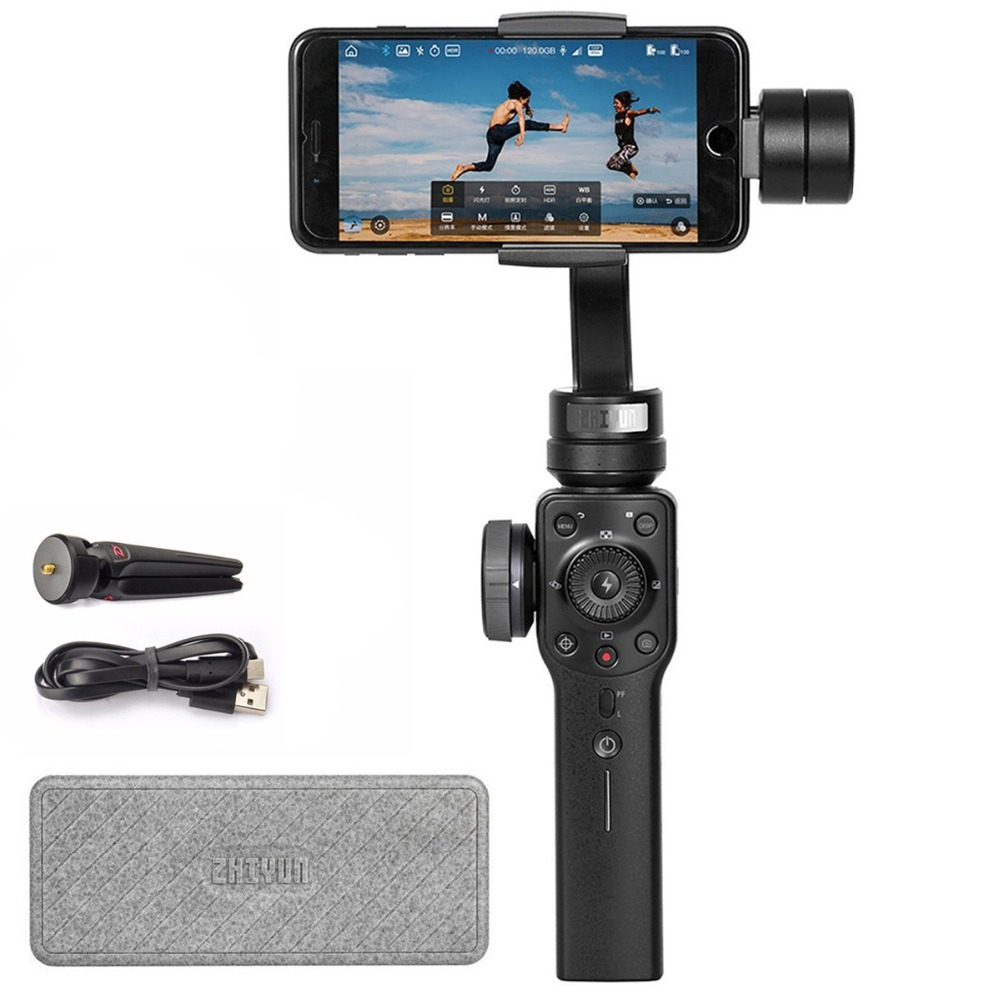 Zhiyun Official Smooth-4 Handheld Gimbal 3-Axis Portable Gimbal Stabilizer for Smartphone like iPhone Sumsung Vlogger Must-have