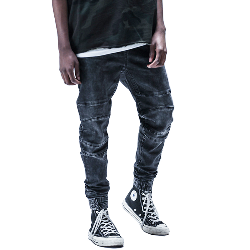 High Quality new fashion 2017 Full Length Men HIPHOP joggers casual ankle cool men hiphop pants Sweatpants rock star jeans