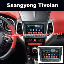 2 Din car Gps Navigation Multimedia navigation for Ssangyong Tivolan Auto System with Bluetooth Radio WIFI Stereo