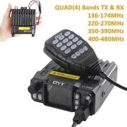 QYT KT-7900D 25 Вт Quad Band мобильный радио 144/220/350/440 мГц 4 полосы FM трансивер обновление QYT KT8900 автомагнитолы портативной рации