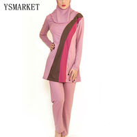 Plus Size XXXXL Full Coverage Muslim Swimwear Islamic Bodysuit Women Conservatism Swimsuit Summer Arab Swimming Beachwear