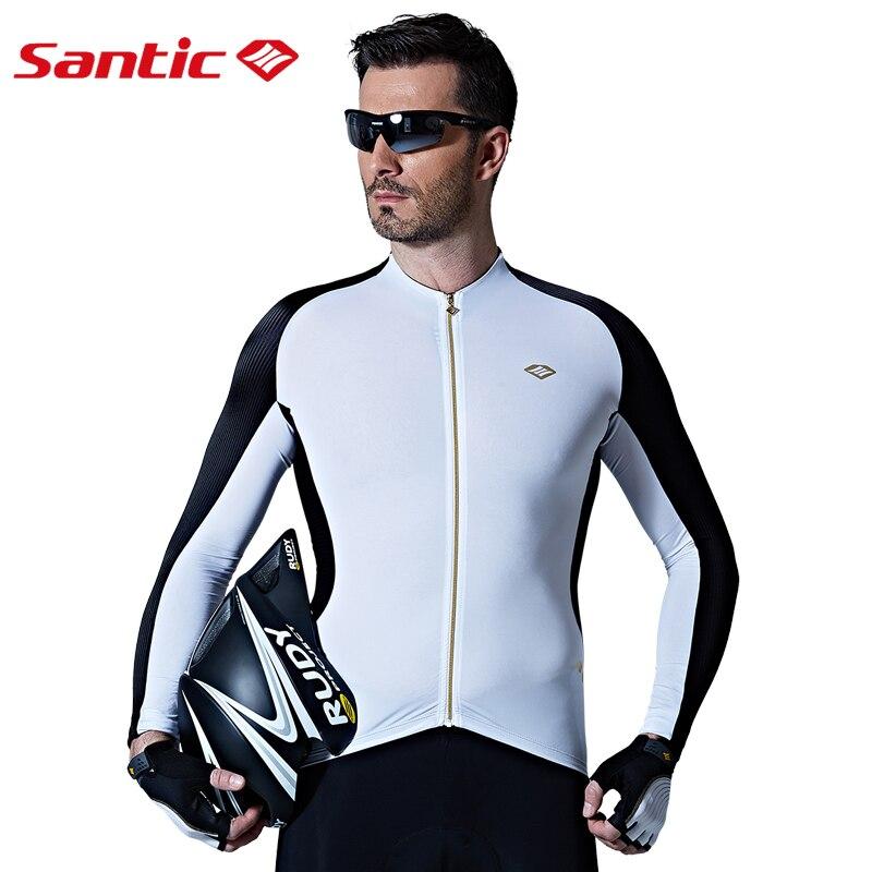 Santic homme maillot de cyclisme manches longues Racing Pro Design Anti-transpiration vélo de route maillot vtt Ciclismo vêtements vélo maillot