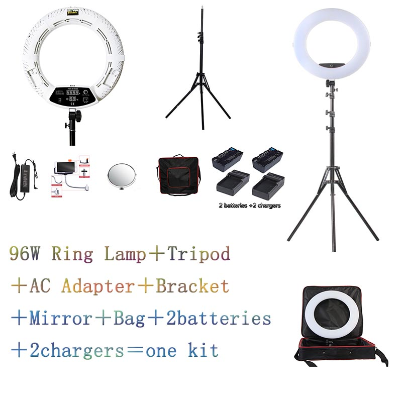 Yidoblo White FD 480II LED Ring lamp Light Make up Lighting sefie ring lamp set standing