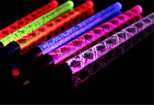 100pcs/Lot Colorful LED light Wave Sticks Glowing Screw Stick Acrylic LED Flash Stick Light Up Toys Wed Birthday Concert Props luminous toy army bomb 3 light stick ver 3 bts bangtan boys concert light up lamp stick army bomb ver 3 lightstick light toys