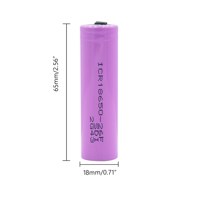 1/2/4/6/8/10 Pieces 3.7 V Volt 2600mAh ICR18650-26F 2 Tabs Design ICR18650 Lithium Li-ion Battery High Drain 20A 18650 Batteries 1