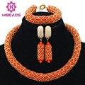 2016 Inteligente Grânulos De Cristal Nigerianos Casamento Beads Africanos Conjuntos de Jóias Traje Africano Conjuntos de Jóias Colar Frete Grátis AMJ474
