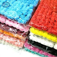 144pcs/lot  2cm Mini Foam Rose Artificial Flower Bouquet Wedding Festival Decoration s DIY Fake F003