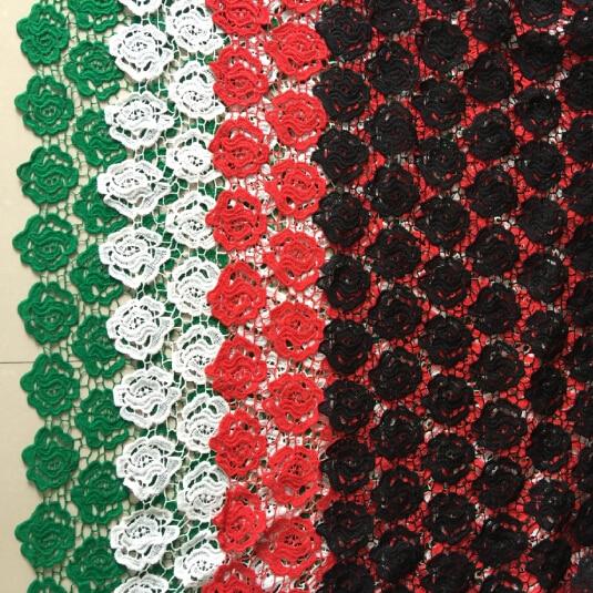 ᑐ5 Metres De Haute Qualite De Mariage Robe Fleur Cordon Dentelle