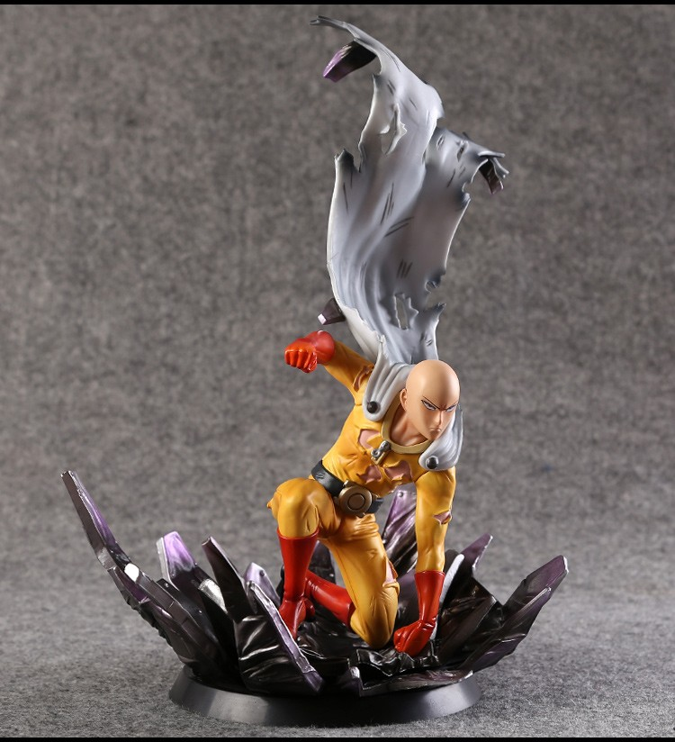 One Punch Man Saitama 1/6 Scale Painted Figure Saitama Doll Brinquedos Anime PVC Action Figure Collectible Model Toy 24cm KT3408 free shipping 10 anime one punch man saitama broken ground ver boxed 24cm pvc action figure collection model doll toy gift