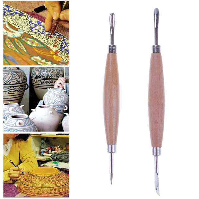 2pcs Pottery Clay Sculpting Set