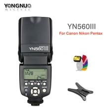 Yongnuo YN560 III YN560III פלאש 2.4G אלחוטי מאסטר & קבוצת תמונה Speedlite עבור ניקון Canon Pentax אולימפוס סוני DSLR מצלמה