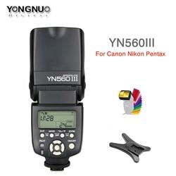 yongnuo YN560 III YN560III flash 2.4G Wireless Master & Group Photo Speedlite for Nikon Canon Pentax Olympus Sony DSLR Camera