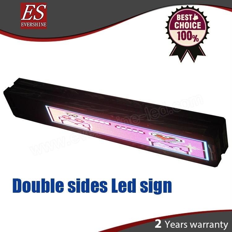 HD double sides led P3 RGB dot-matrix LED display screen size H14 x W81cm (H5.5 x W40) Aliexpress Diamond Supplier iconbit nettab matrix hd white nt 0708m
