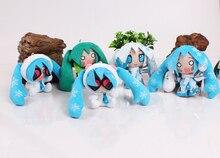 New arrival Hatsune Miku MIni Cute Anime Plush Doll Toys 5 pcs set Approximately 10 CM