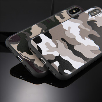 Army Green Camouflage Case For iPhones Soft TPU Silicon Phone Back Cover 5
