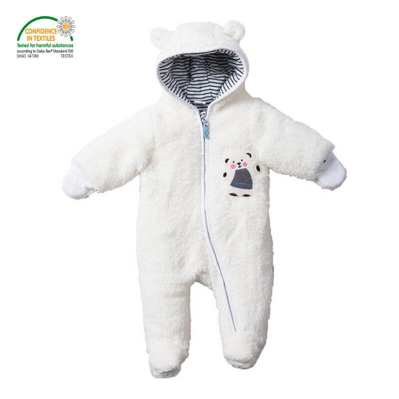 1ed563769 Baby Footies Jumpsuit + Hat + Shoes Hooded Baby Longhair Snowsuits ...