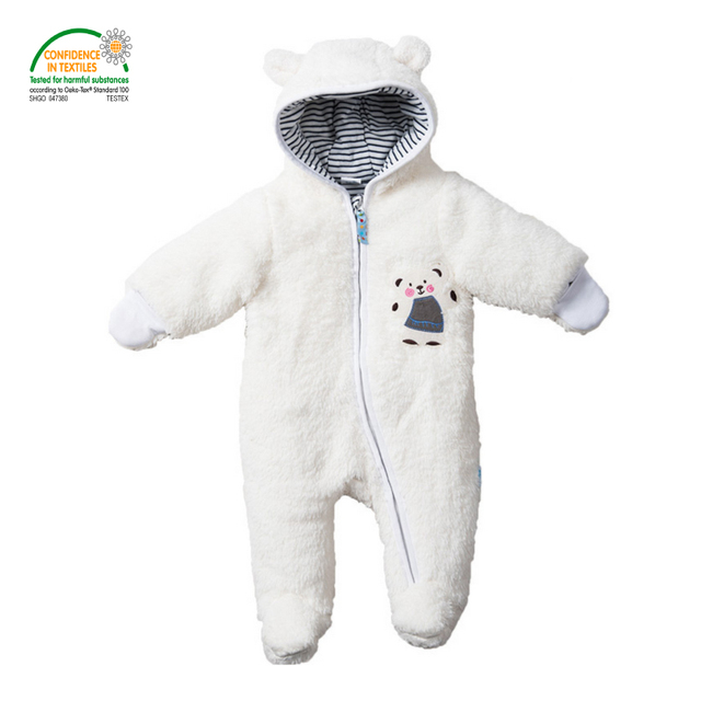 734c21c25 Baby Footies Jumpsuit + Hat + Shoes Hooded Baby Longhair Snowsuits ...