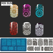 1Pcs New 2016 22 Patterns Stainless Steel Nail Art Stamping Plates Lace Flower designs Nail Art Stamp Templates Manicure Tools