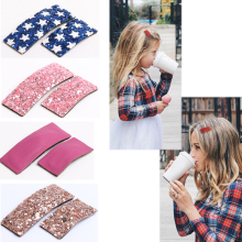 Popular High Quality Hot Sale Hair Accessories Leather Clips Parent-child Cute Pins 2PCS/Lot Girls clip